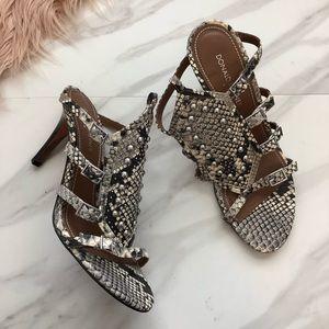 Donald J. Pliner Shoes - Donald pliner snake skin heels sandals size 9